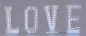 LED LOVE LETTER HIRE