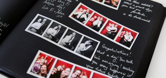 photo booth for hire guestbook